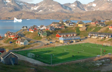 Danish GOT actor Nicolai-Coster-Waldau visits Greenland and our Edel Future DS soccer pitch in Tasiilaq