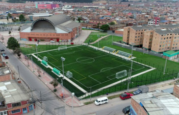 Drone videos and photo impressions of 8 soccer fields in Bogota, Colombia