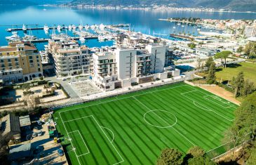 Certified soccer system in the protected town of Tivat