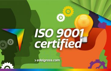 Edel Grass receives ISO 9001 certificate