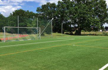 Natural cork-filled soccer field in Schöneiche