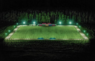 Full size soccer pitch in Bozova, Ukraine