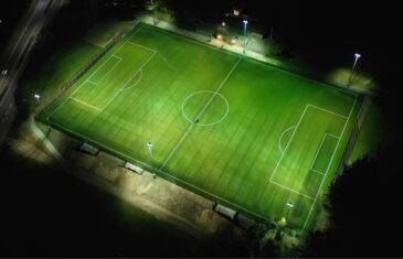 Full size football pitch in Vejle Kammeraterne
