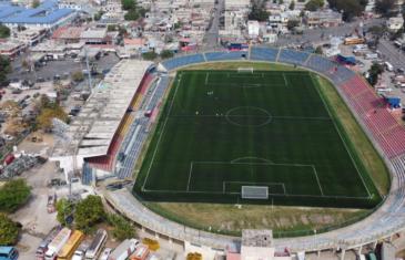 FIFA Quality Pro soccer field in Port-au-Prince, Haiti