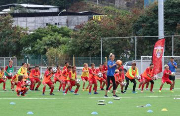 Full-size FIFA soccer field in Papeete, Tahiti