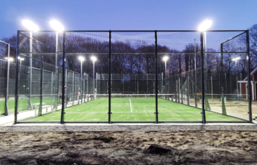 Two high-class padel courts in Denmark