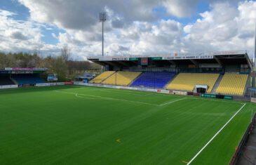 High class stadium pitch for Herfølge Stadium, Denmark