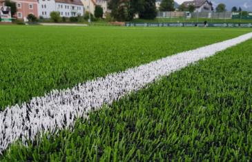Full-size soccer pitch in Liezen, Austria